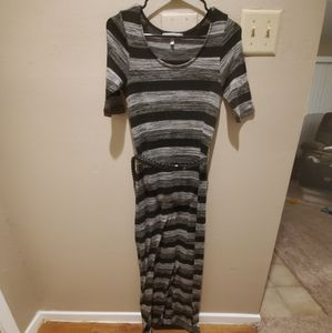Grey and Black Maxi Dress, Size S